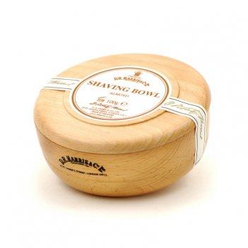 Твердое мыло для бритья в чаше из бука d. r. harris, almond, 100 гр