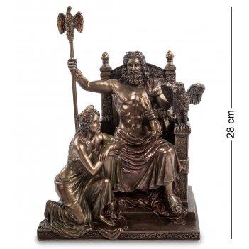 Ws-645/ 1 статуэтка зевс и гера