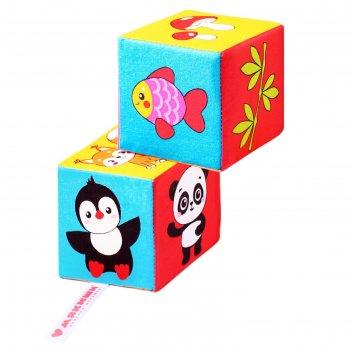 Набор мягких кубиков «кто что ест*