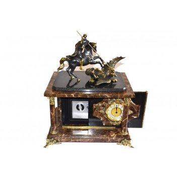 Часы-сейф из итальянского мрамора георгий-победоносец
