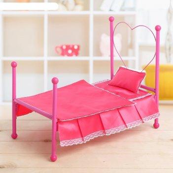 Кроватка для куклы, с подушкой