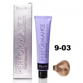 Крем-краска для окрашивания волос ollin professional performance, тон 9/03