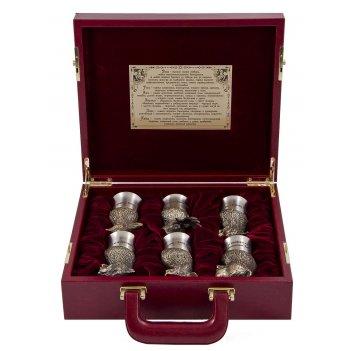 Подарочный набор охотничий в кейсе, мал. с панно, арт. пно-54ш