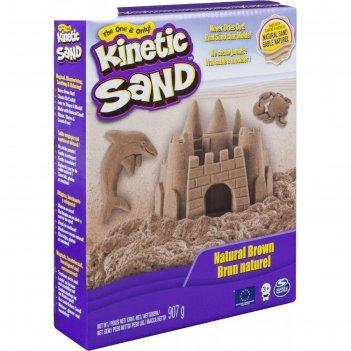 Песок для лепки, kinetic sand, коричневый, 907 гр.