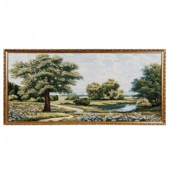 Гобеленовая картина одинокий дуб 100х52 см