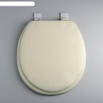 Сиденье для унитаза 40x37 см классика, цвет бежевый