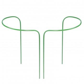Кустодержатель, d = 50 см, h = 90 см, ножка d = 1 см, металл, набор 2 шт.,