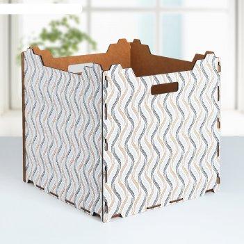 Ящик складной для хранения орнамент 300*300*300 мм