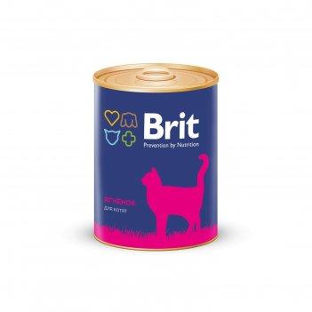 Влажный корм brit premium для котят, ягненок, 340 г
