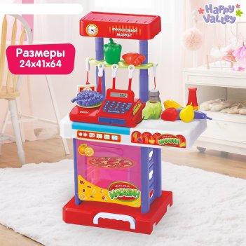 Игровой набор фруктовый маркет: прилавок, касса-калькулятор, продукты, акс