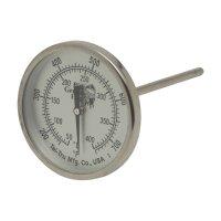 Термометр для гриля-коптильни, механический, круглый, шкала +50/+400с, big