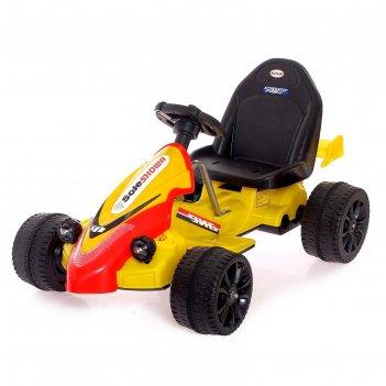 Электромобиль «картинг», цвет жёлтый