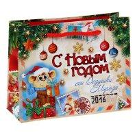 Пакет ламинат горизонтальный новогодняя почта