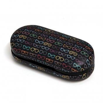 Футляр для очков и контактных линз twin pattern черный