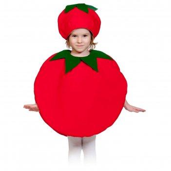 Карнавальный костюм помидорка, текстиль, рост 98-128 см
