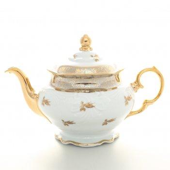 Чайник carlsbad фредерика лист бежевый 1,2 л(6 шт)