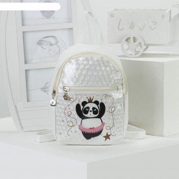 Рюкзак дет панда, 18*9*23, отд на молнии, н/карман, нежно.розовый