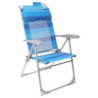 Кресло-шезлонг складное 2 сетка синий к2
