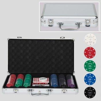 Набор для покера на 300 фишек с номиналом