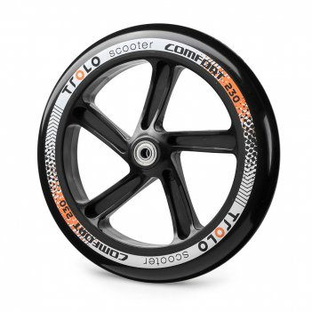Колесо с подш. trolo comfort 230 черный/оранжевый
