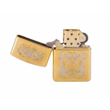 Зажигалка герб рф (zippo) златоуст
