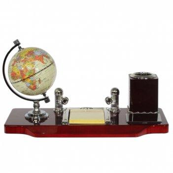 Настольный набор (глобус, карандашница, блокнот, держатель для визиток), l