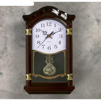 Часы настенные, серия: маятник, пронто, 34х20х3 см, 1аа