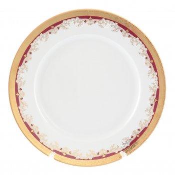Блюдо круглое thun кристина красная лилия 30 см