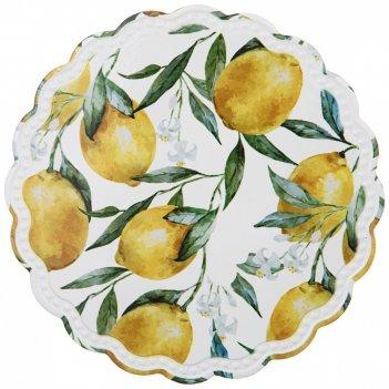 Подставка под горячее коллекция лимоны диаметр=20 см