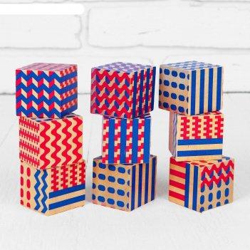 Кубики абстракция размер куба: 4 x 4 x 4 см