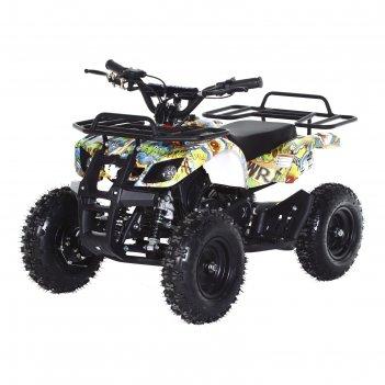 Квадроцикл детский бензиновый motax atv х-16 мини-гризли с электростартеро