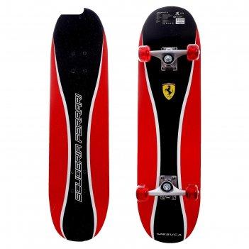 Скейтборд ferrari 31x8, цвет черный/красный