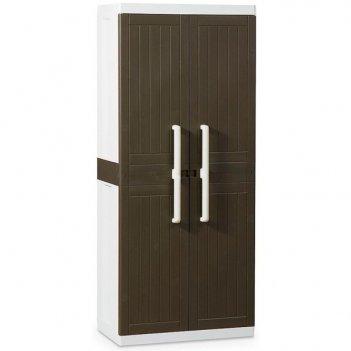Уличный шкаф toomax wood line s 255b 2х дверный узкий коричневый