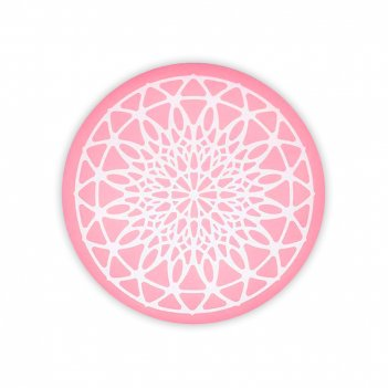 Коврик-трафарет кондитерский, диаметр: 9 см, материал: силикон, цвет: розо