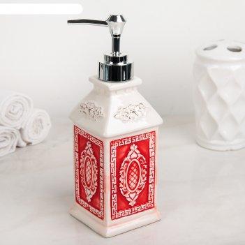 Дозатор для жидкого мыла эстет, цвет красный