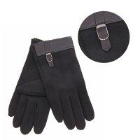 Перчатки мужские ремешок безразмерные, полоска, с пряжкой, цвет чёрный
