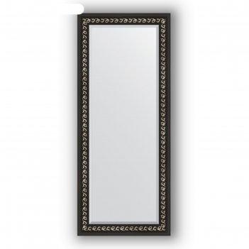 Зеркало с фацетом в багетной раме - черный ардеко 81 мм, 65 х 155 см, evof