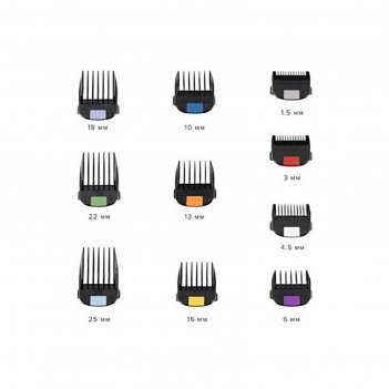 Набор насадок для машинки для стрижки fresh fade, 10 шт, 1.5-25 мм