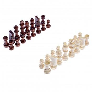 Шахматные фигуры, дерево, высота короля 5 см, в пакете  микс