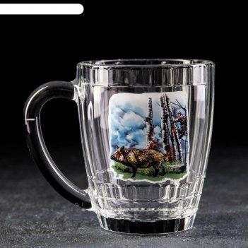 Кружка для пива gidglass «охота-рыбалка», 500 мл микс