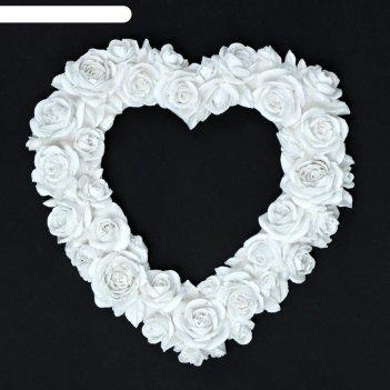 Фоторамка сердце из роз белая