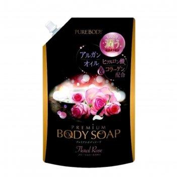 Гель для душа mitsuei pure body premium, увлажняющий, с аргановым маслом,
