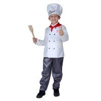 Карнавальный костюм поваренок, 4 предмета: рубашка, брюки, колпак, шарф, р