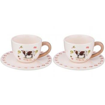 Пара чайная country life 250 мл 15,3*15,3*7,7 см 2 персоны