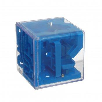 Головоломка лабиринт сложный, цвет синий