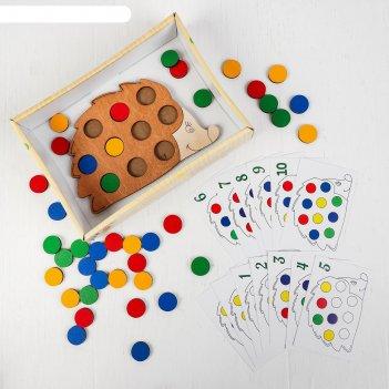 Мозаика - игра повтори за ежиком