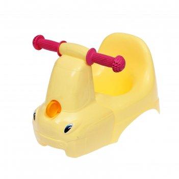 Горшок-игрушка грузовичок цвет желтый пастельный, la4905yl