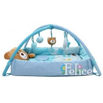 Детский коврик felice f плюшевый мишка 04fs синий