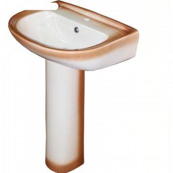 Умывальник rosa, ресса, с пьедесталом, коричневый