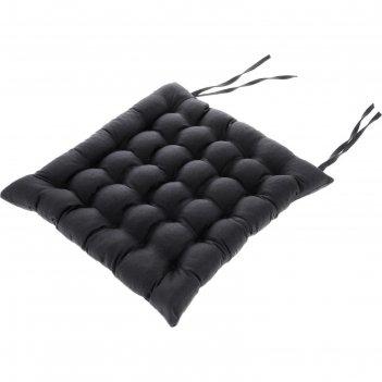 Подушка на сидение «уют» с завязками для стула, размер 40x40 см